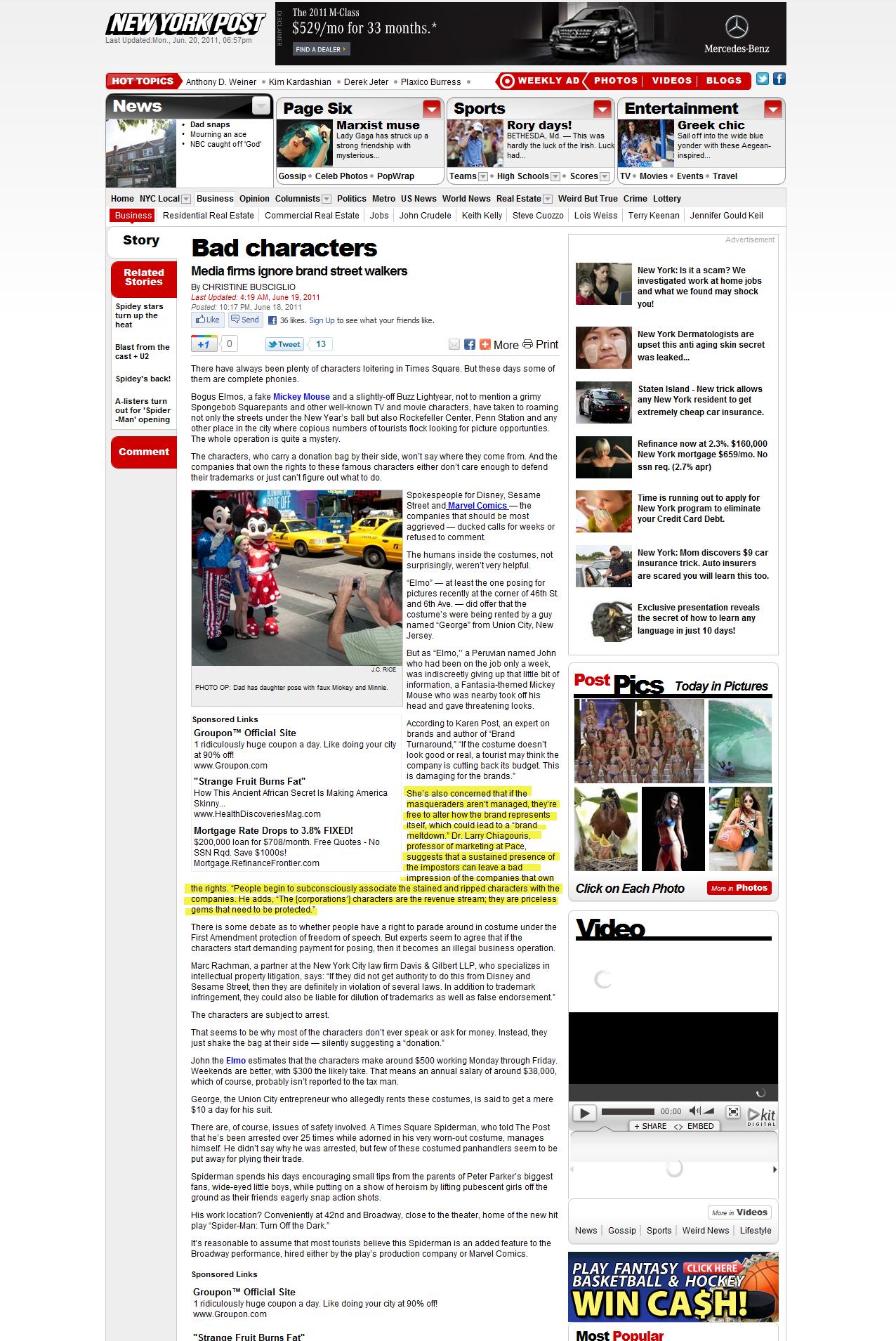Bad Characters–New York Post